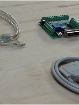 Плата опторазвязки на MACH3 LPT 4/5 осей+ кабель LPT